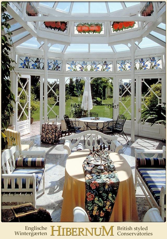 innenraum eines viktorianischen wintergartens. Black Bedroom Furniture Sets. Home Design Ideas