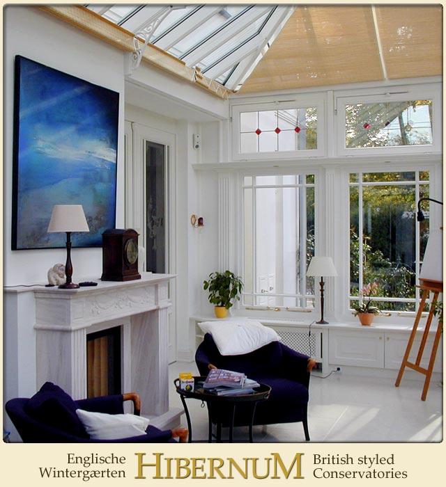 stilechter sonnenschutz im englischen wintergarten. Black Bedroom Furniture Sets. Home Design Ideas